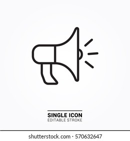 Icon megaphone Single Icon Graphic Design
