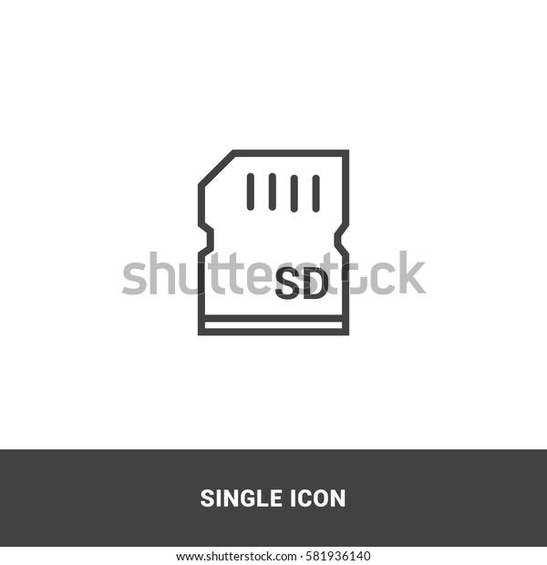 Icon microsd Single Icon Graphic Design