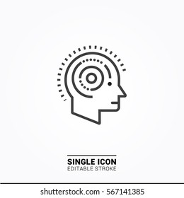 Icon mind Health Single icon graphic design