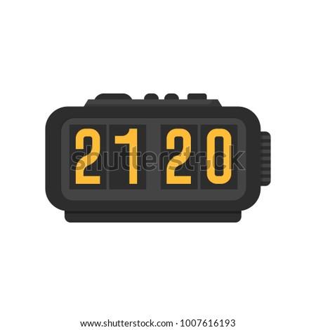 Icon Modern Alarm Clock Stock Vector (Royalty Free