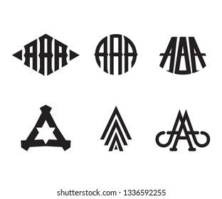 A icon monogram logo design