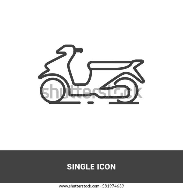 icon motorcycle single icon graphic design