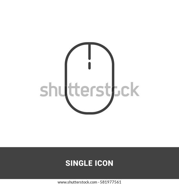 icon mouse single icon graphic design