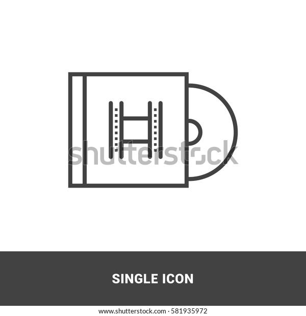 Icon movie cd Single Icon Graphic Design