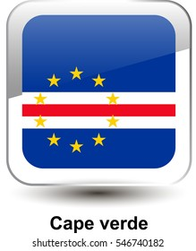 2f9106411930 Icon of the national flag of the Cape verde. The glass effect with a shadow