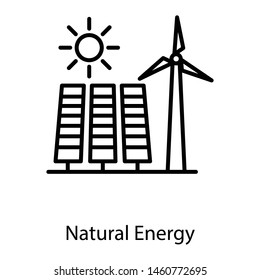 Icon of natural energy windmill