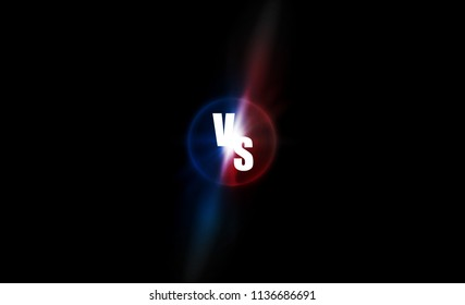 Icon neon versus logo vs letters for sports and fight competition. Battle and match, game concept competitive. Vector illustration