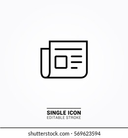 Icon news Single Icon Graphic Design