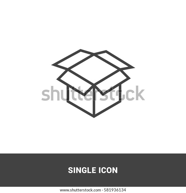 Icon open box Single Icon Graphic Design