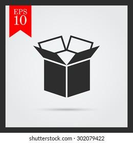 Icon of open carton box