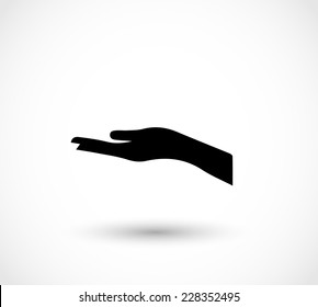 Icon of an open hand vector