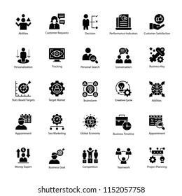 Icon Pack of Business Management