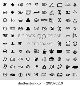 icon pack car information pictograms