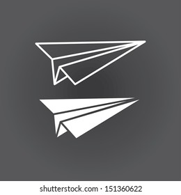 icon paper airplane. vector. eps8
