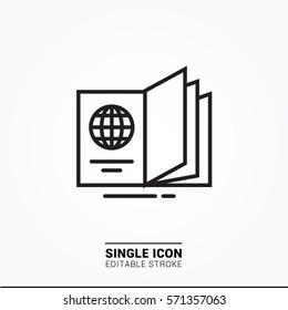 Icon passport single icon graphic designer