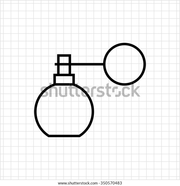 Icon of perfume retro bottle with pump