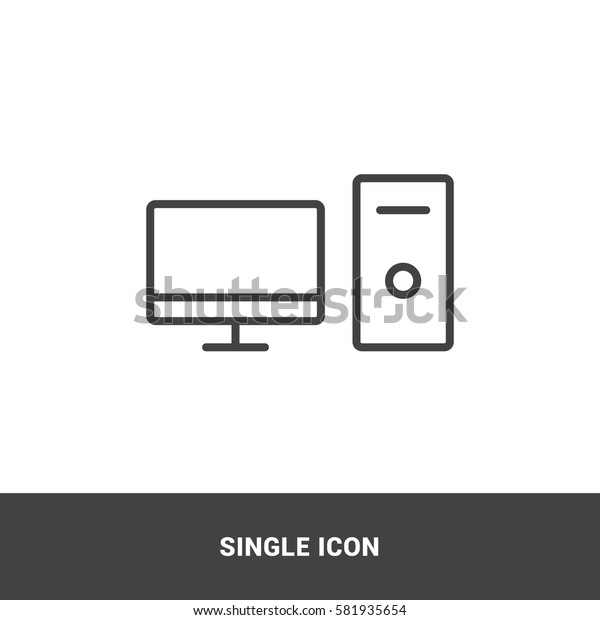Icon personal computer  Single Icon Graphic Design