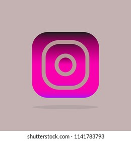 Icon photo camera. Social media Instagram icon colour gradient. Icon color. Vector illustration EPS 10