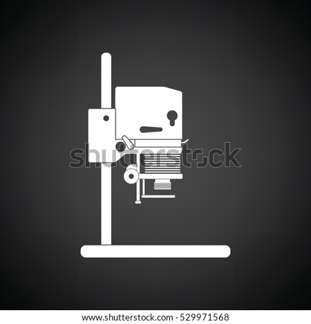 Icon Photo Enlarger Black Background White Stock Vector (Royalty