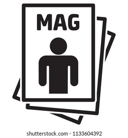 Icon pictogram, Magazine, catalog or product insert, for point of sale and promotion. Ideal for catalogs, informational and advertising material and media