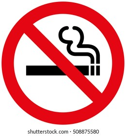 Icon pictogram prohibited sign smoke. Ideal for catalogs, informational and institutional material