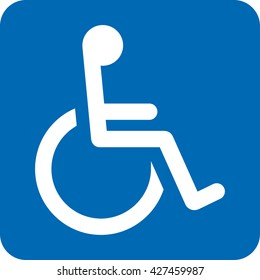Icon pictogram wheelchair physical deficient