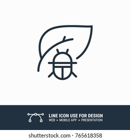 Icon plant pests graphic design single icon vector illustration