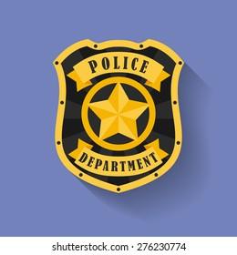 Icon of Police, Sheriff badge