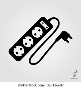 Icon of power extension cord