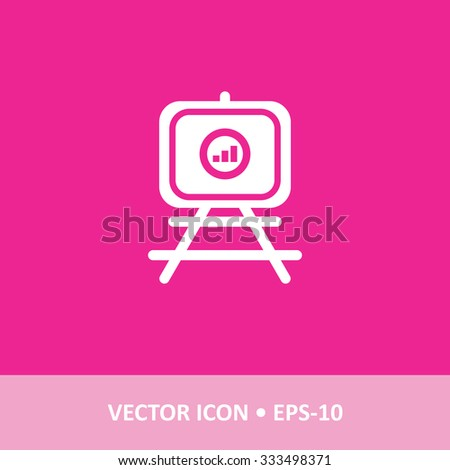 Icon Presentation Chart On Magenta Color Stock Vector Royalty Free