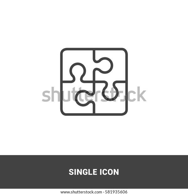 Icon puzzle Single Icon Graphic Design
