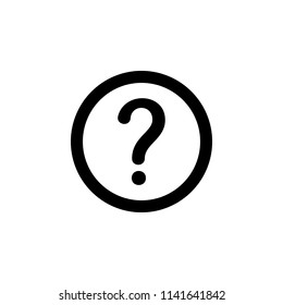 The icon of question mark or help sign. Simple glyph icon illustration of question mark or help sign for a website or mobile application on white background
