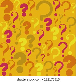 Icon of question, pattern of question mark silhouette,  vector illustration