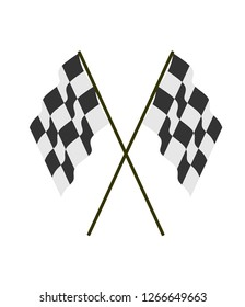 icon of race flag vector illustration