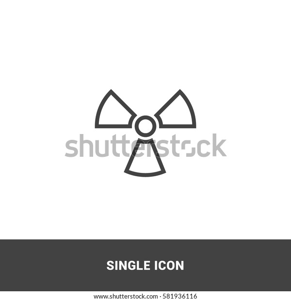 Icon radiation symbol Single Icon Graphic Design