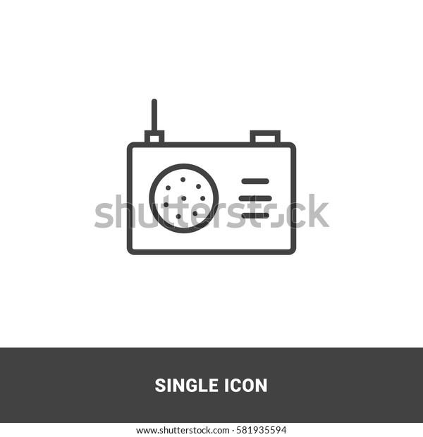 Icon radio Single Icon Graphic Design