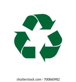 icon recycle flat green