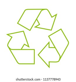 Icon of recycle symbol - residue utilization