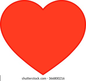 icon red heart, vector