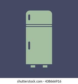 Icon of Refrigerator. Eps-10.