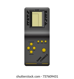Icon of Retro Game Console. Vector Illustration. Realistic Style. Retro Decorative Design for Cards, Posters, Banners, Stickers, Placards.