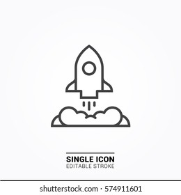 Icon rocket boost Single Icon Graphic Design