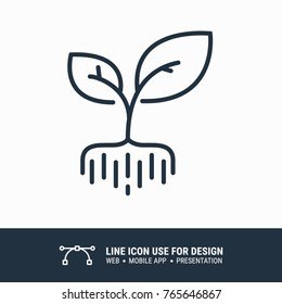Icon roots and plants graphic design single icon vector illustration