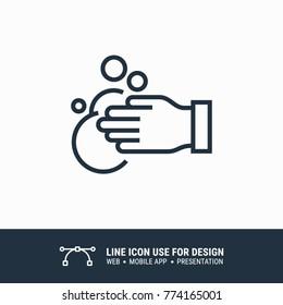 Icon rub hands graphic design single icon vector illustration