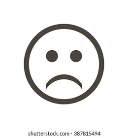 Icon sad emotions on a white  background