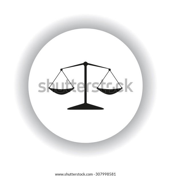 Icon scales balance. icon. vector design