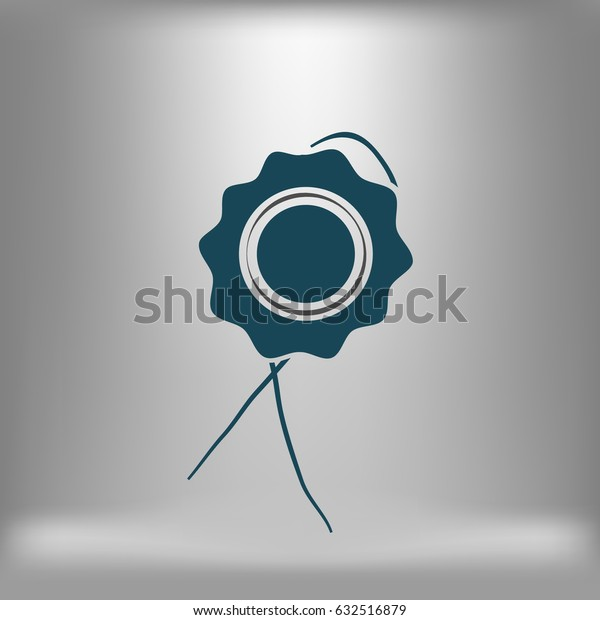 Icon of seal. Stock vector illustration