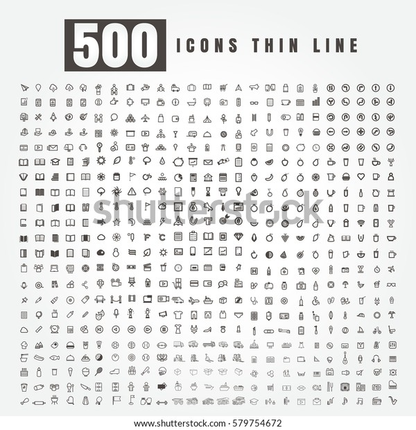 icon Set of 500 Combination. Business. Arrow. Truck. Marketing. season. Fruit. coffee. school. books. travel. Medical. Food. music. sports. movie. shopping. on white background