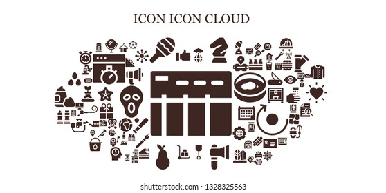 icon icon set. 93 filled icon icons.  Simple modern icons about  - Data table, Thumb up, Mirror, Maraca, World, Horse, Shovel, Axe, Wheelbarrow, Pear, Chess, Candies, Hanger, Friends