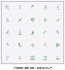 icon set about biology with   tube, spleen and heart organ